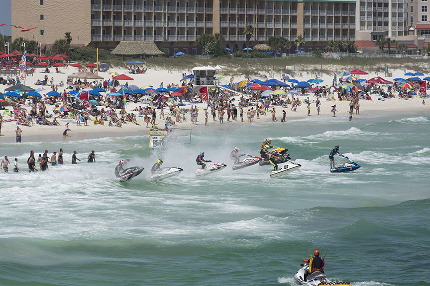 Pensacola Sports Association Pro Watercross Tour Jet Ski Tournament, Sunday May 17, 2015 at Penacola Beach.