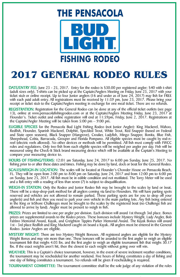General Rodeo Rules Graphic rev