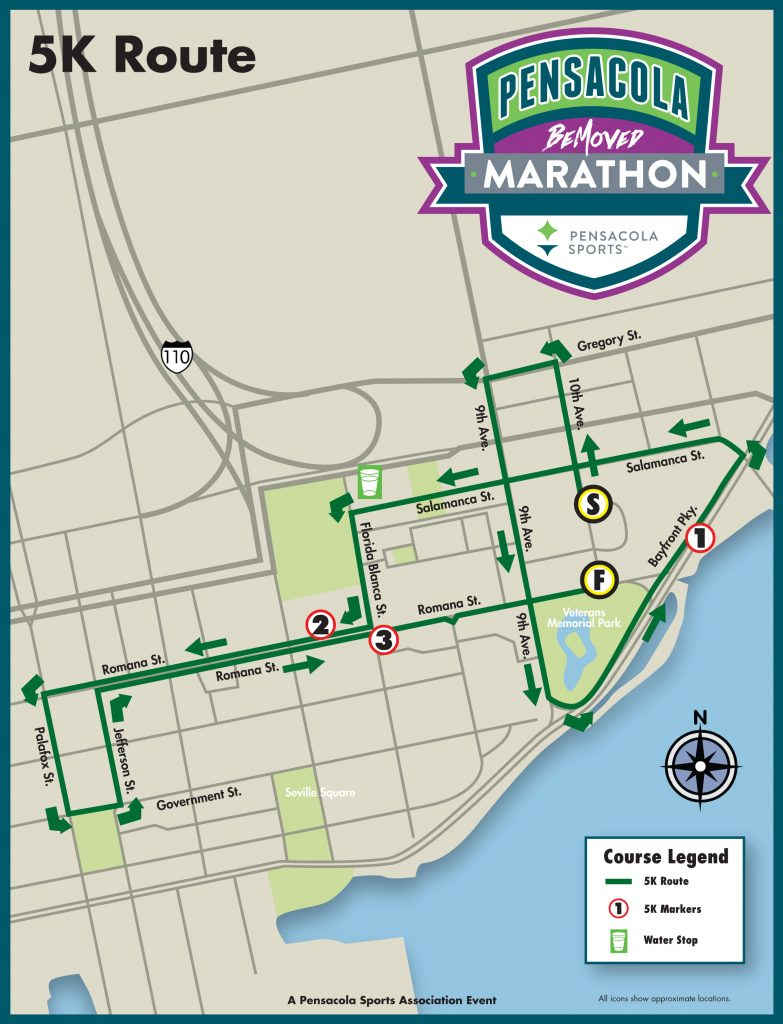 Map Of Pensacola Florida.Pensacola Marathon Race Maps Pensacola Sports